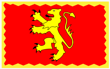 Dragon rampant - the flag of the Welsh house of Deheubarth