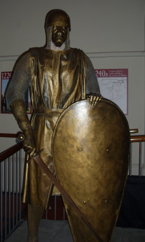 Strongbow as depicted in the Dublinia exhibition