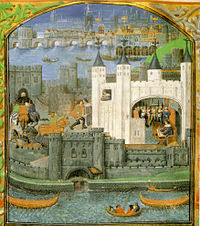 An early painting of the Tower of London