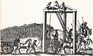 """Tyburn Tree"", The execution scaffold at Tyburn"