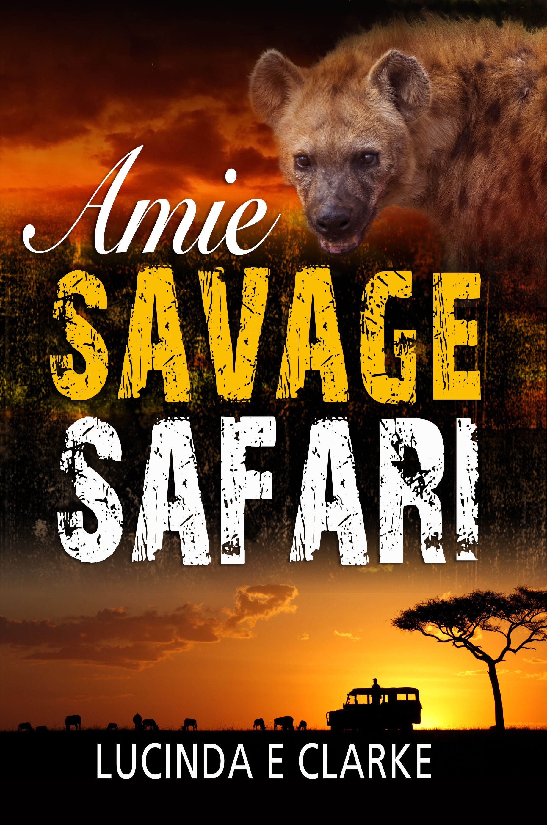 "Cover image for Lucinda's latest Amie novel: ""Amie Savage Safari"""
